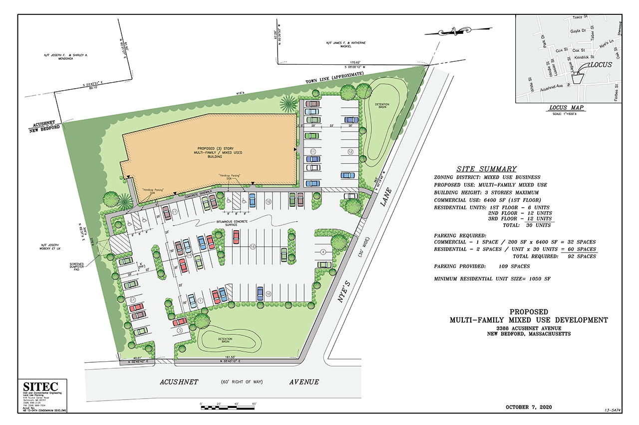 FOR SALE or LAND LEASE -3388 Acushnet Ave, New Bedford MA 02745